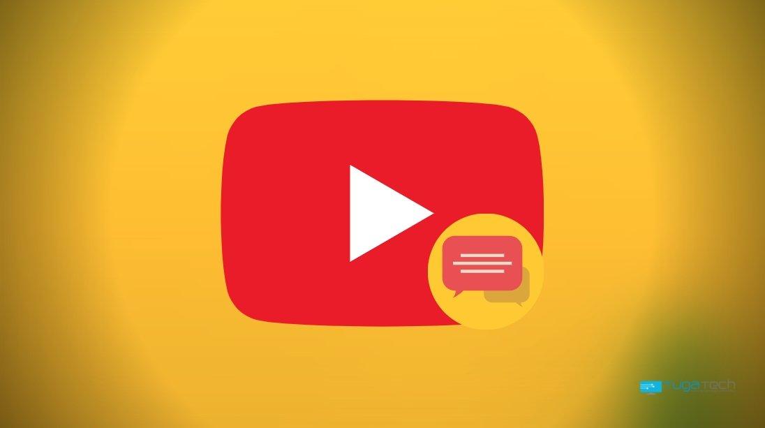 YouTube e comentários