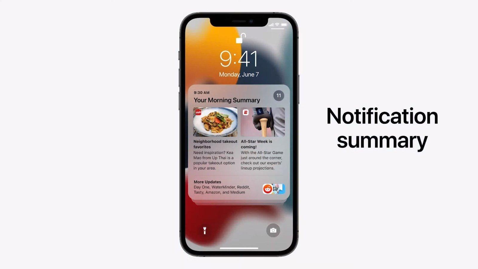 sumário de notificações