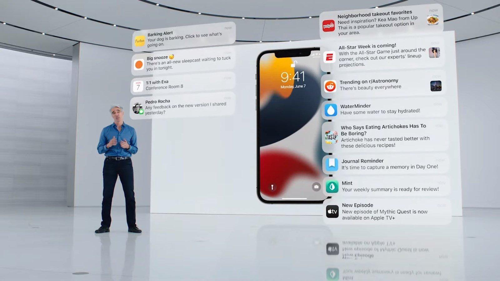 iOS 15 notificações