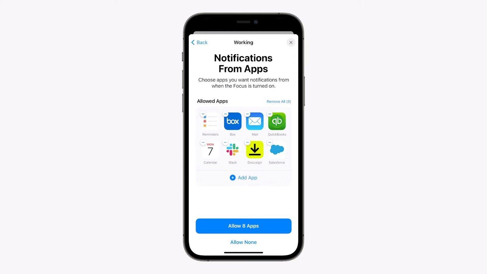 notificações por app