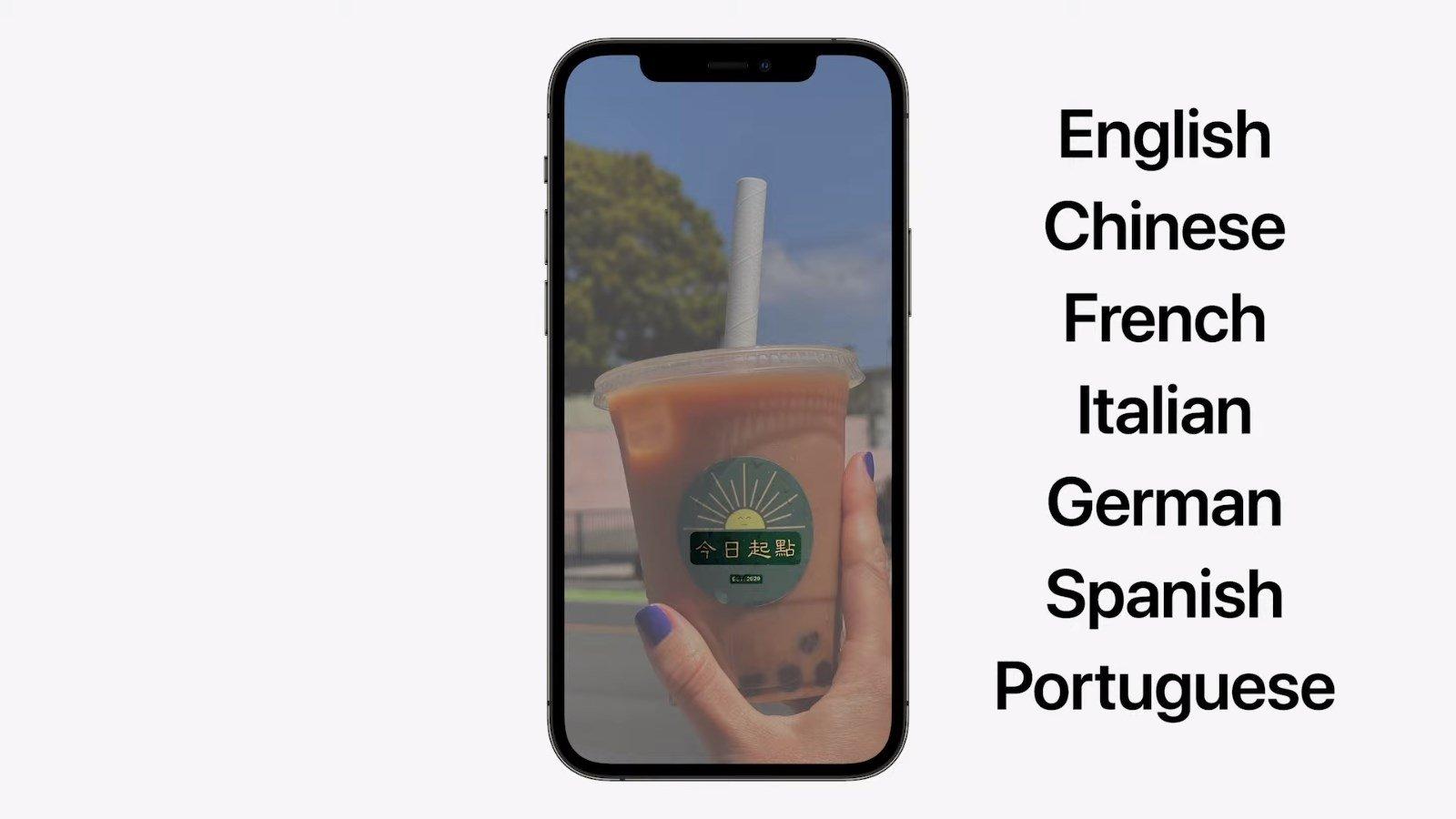 Apple tradução de texto