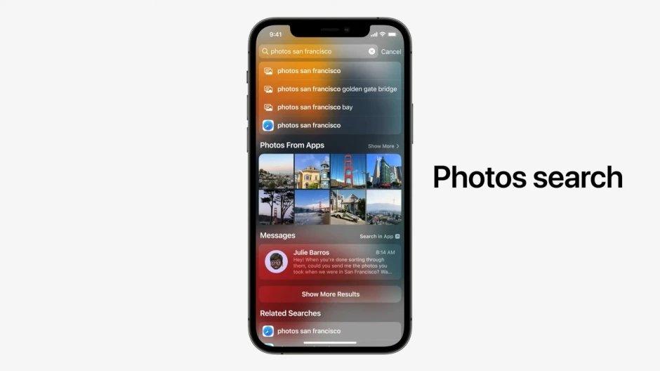 Apple photo search