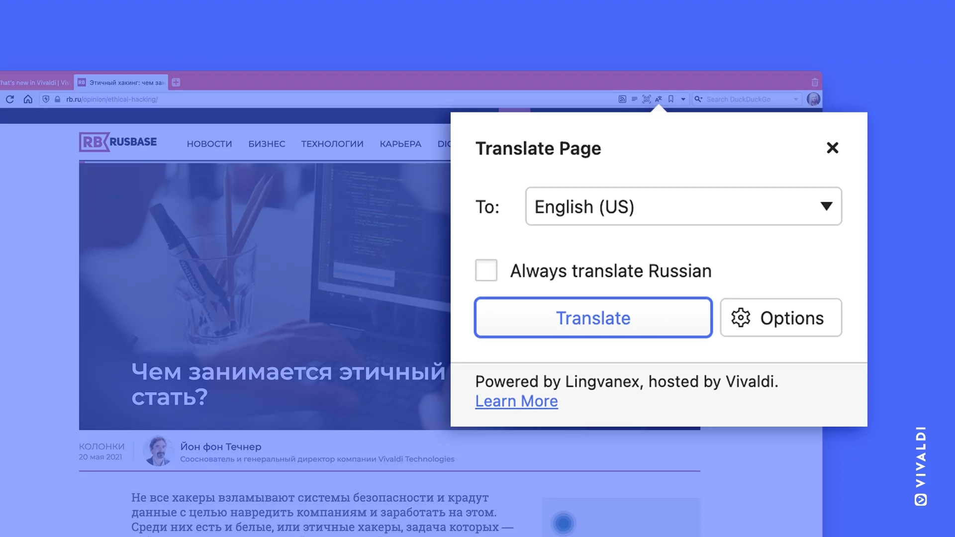 vivaldi tradutor