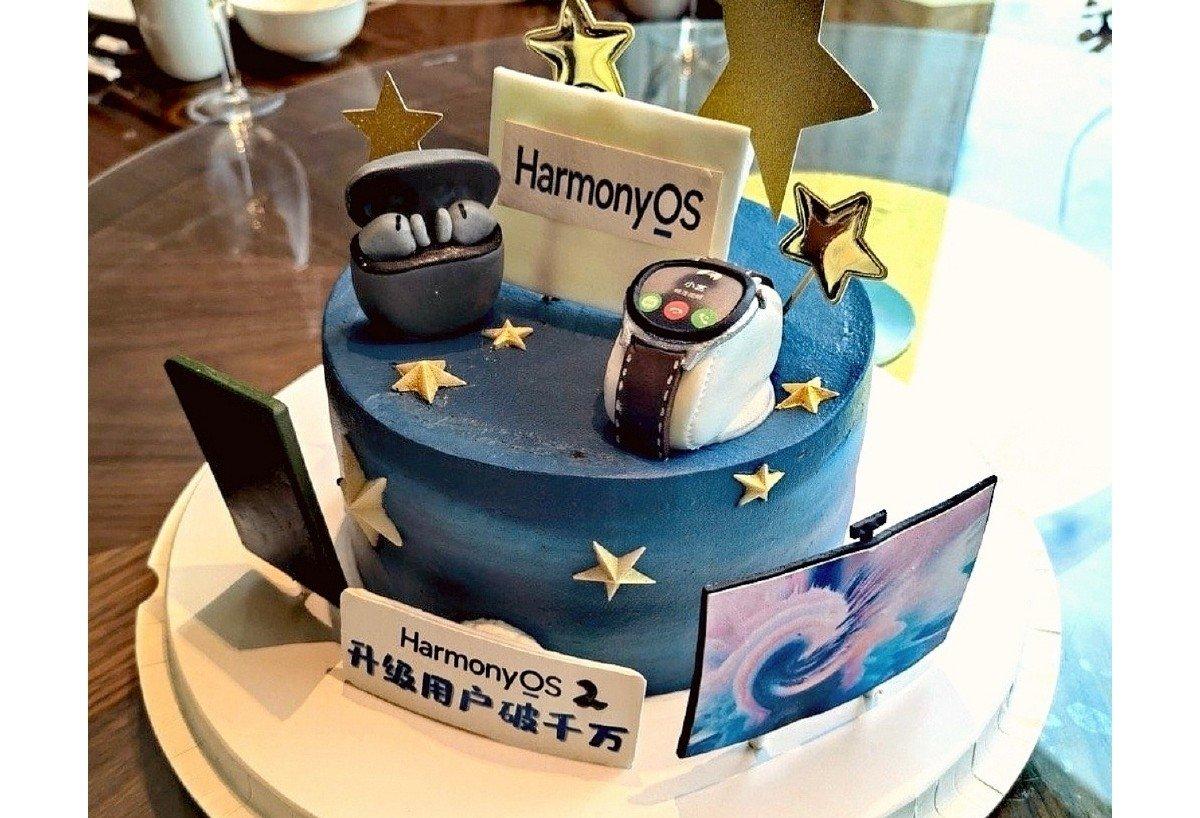 bolo de celebração da huawei