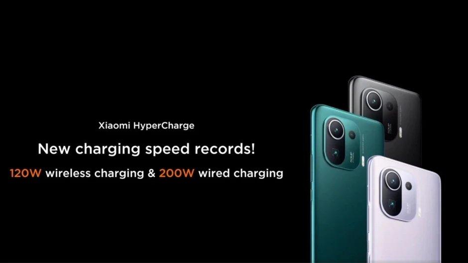 Xiaomi carregamento em 200W