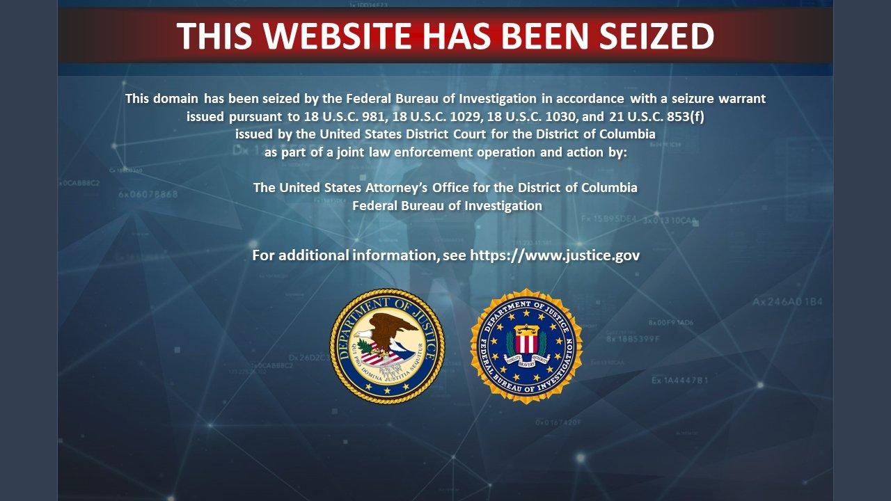 site apresenta banner de erro das autoridades
