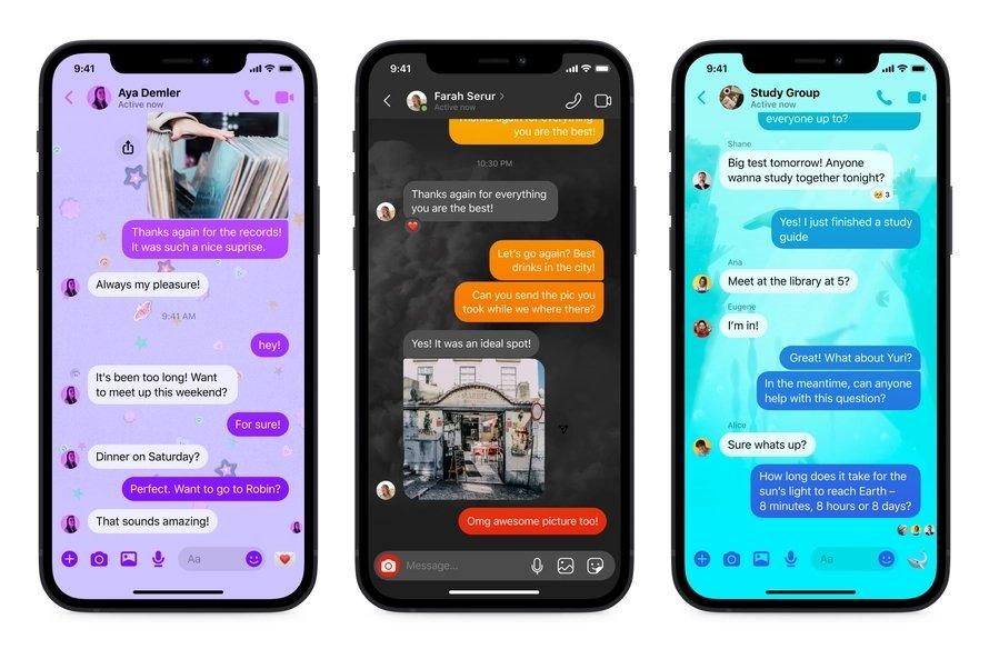 novos temas messenger