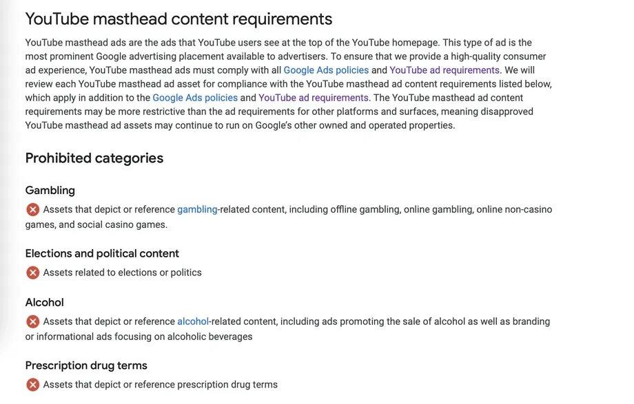 regras de publicidade no Youtube