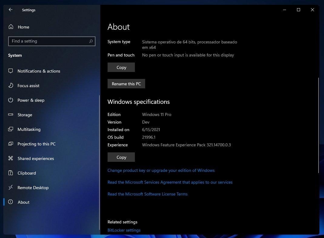 Windows 11 info