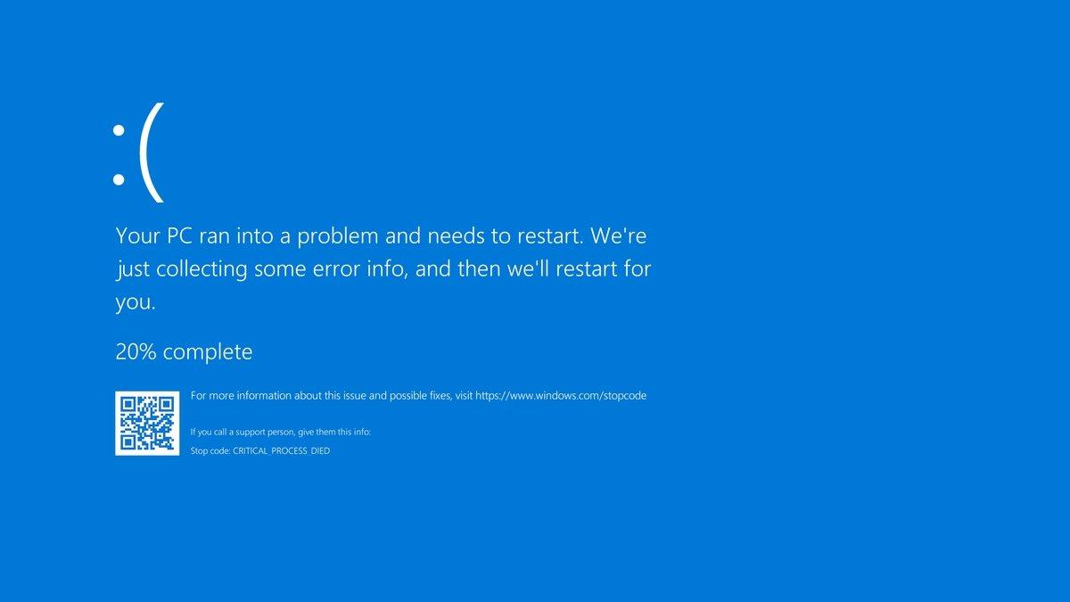 ecrã azul de erro no windows 10