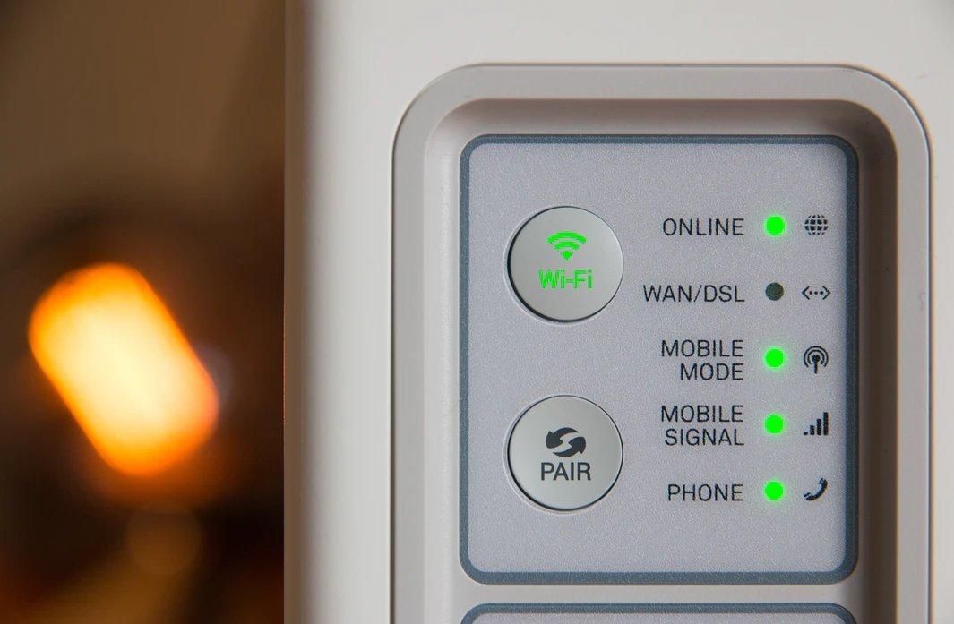 rede wi-fi em router