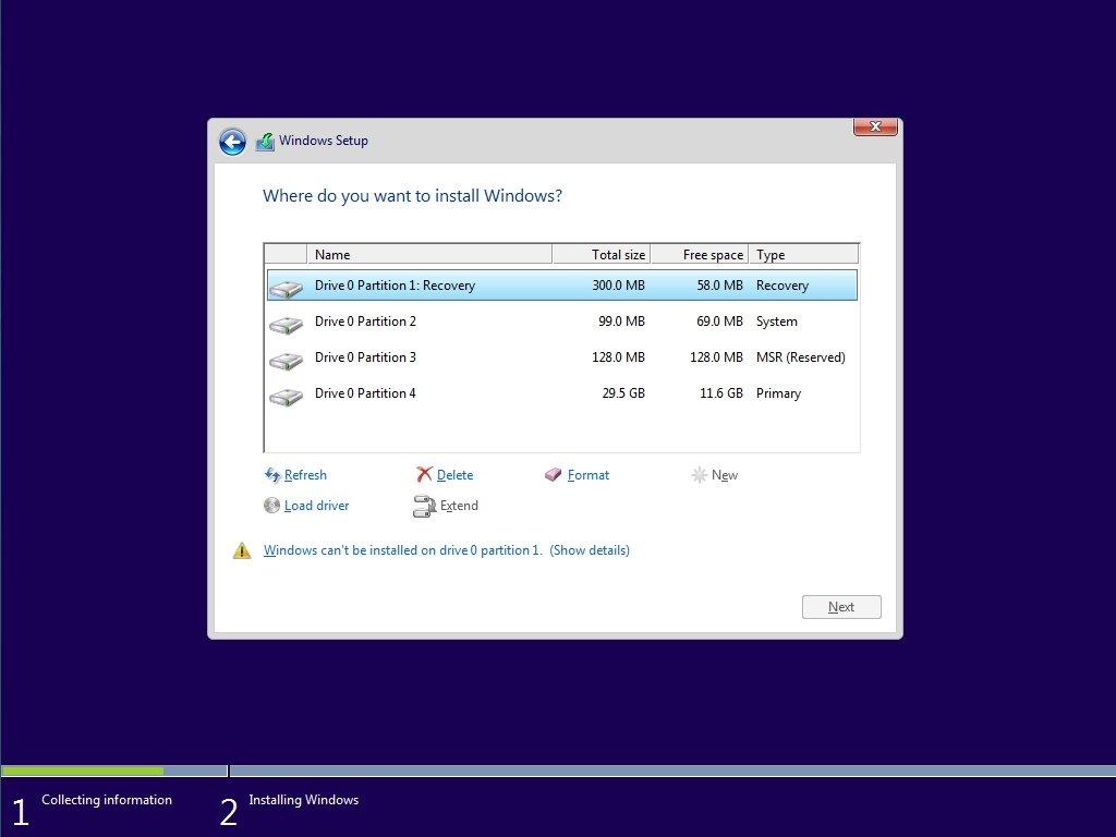 discos do setup no Windows