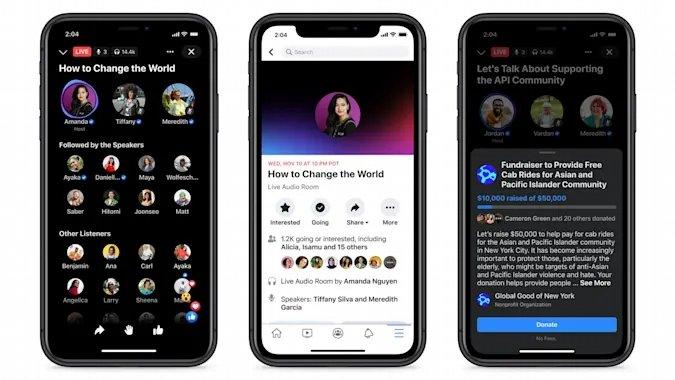 Facebook salas de audio