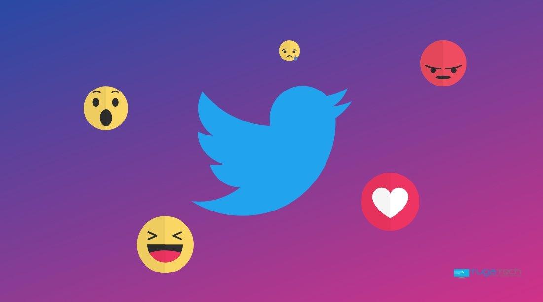 Twitter reações