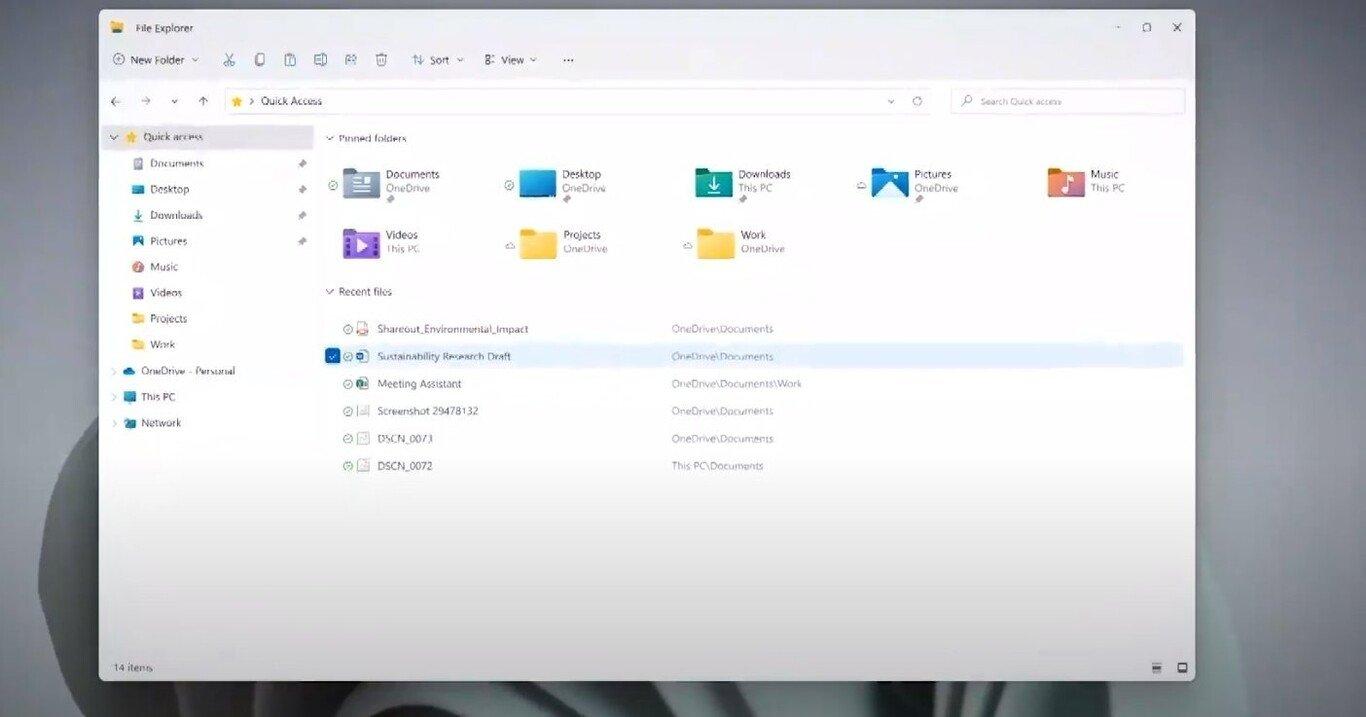 Novo explorador de ficheiros no Windows 11