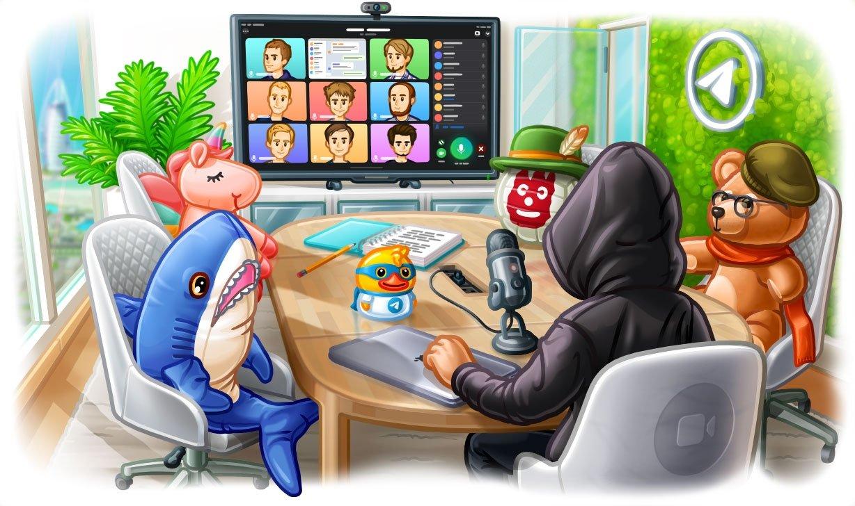 Telegram chamadas de vídeo em grupo