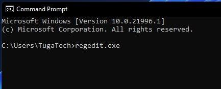 Linha de comandos do Windows 11
