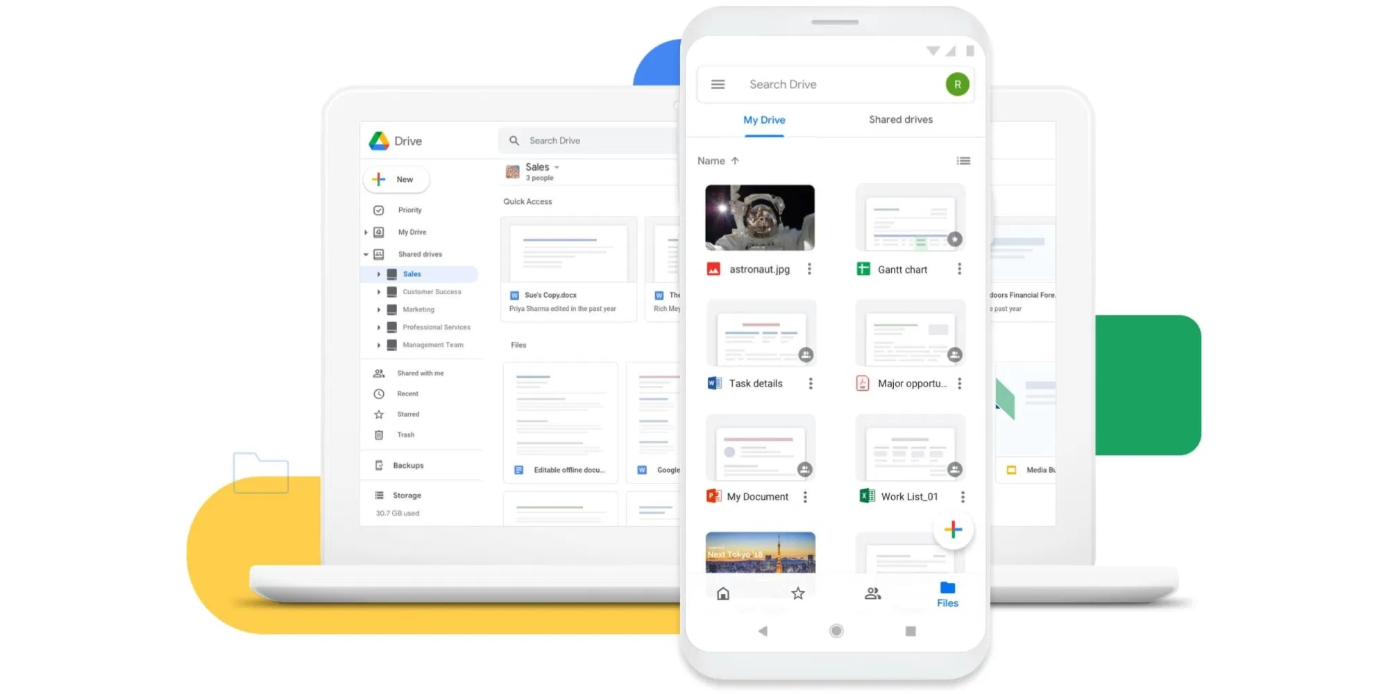 Google Android 12 drive