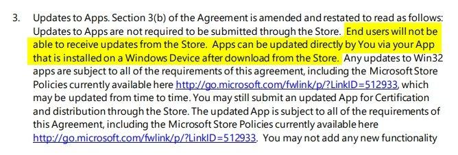 informação da Microsoft sobre apps win32 na store