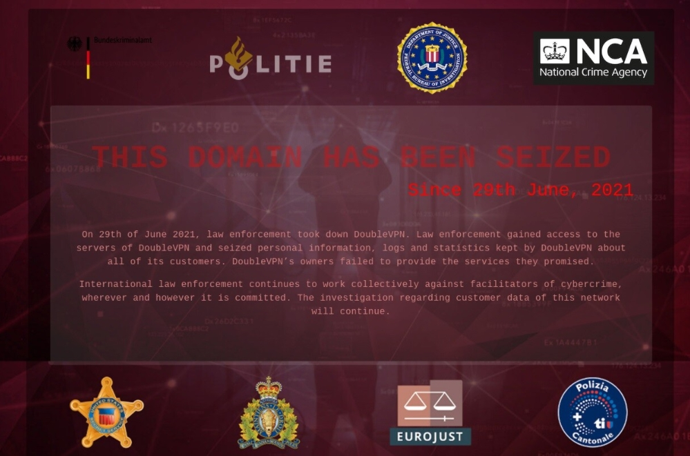 bloqueio de website vpn por autoridades doubleVPN