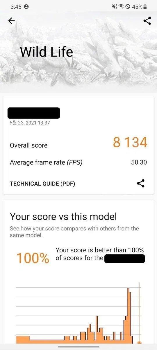 teste de benchmark do chip da samsung