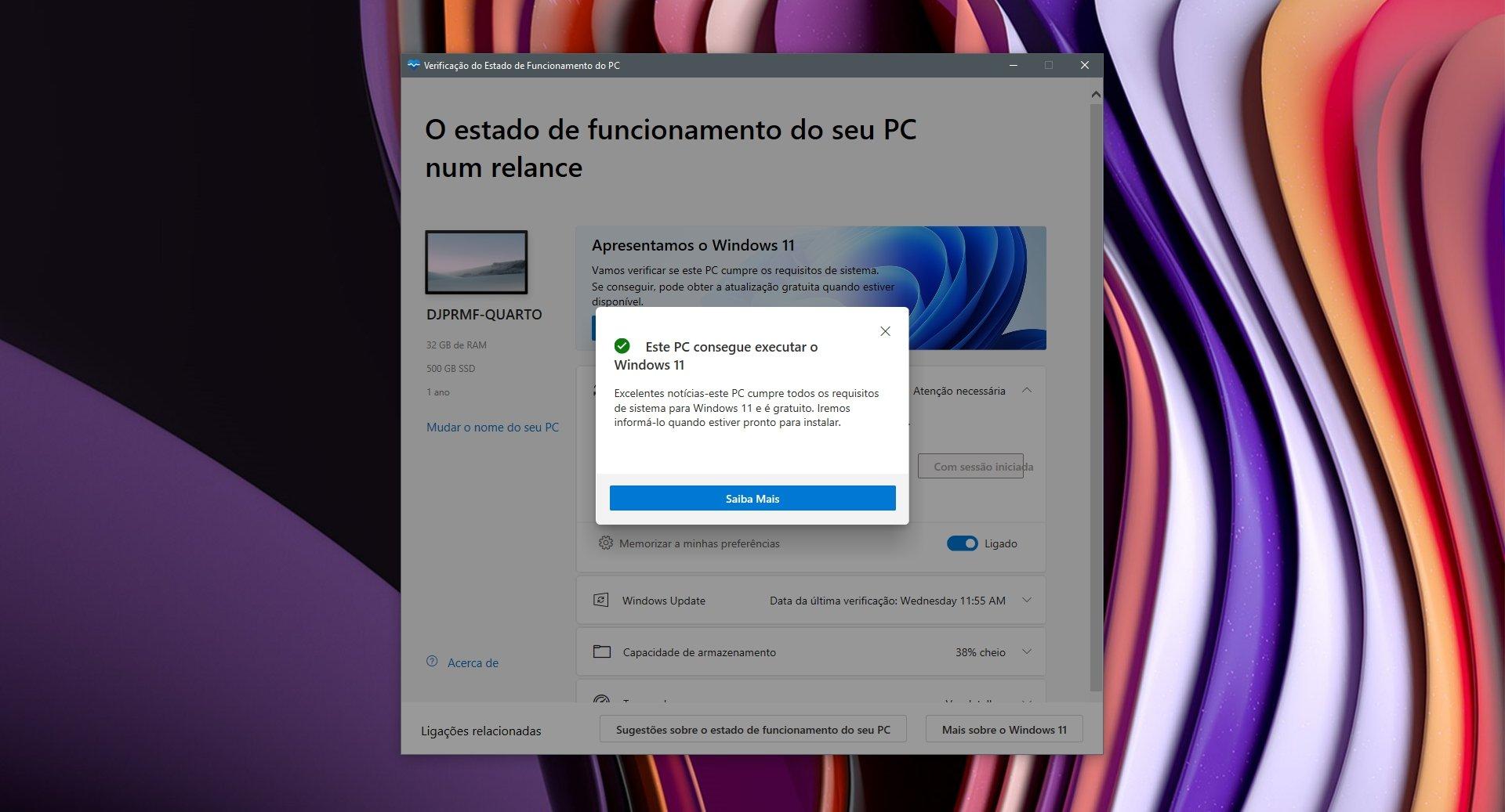 Microsoft PC Health Check