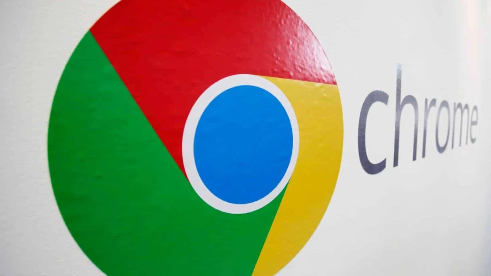 Google Chrome em parede logo