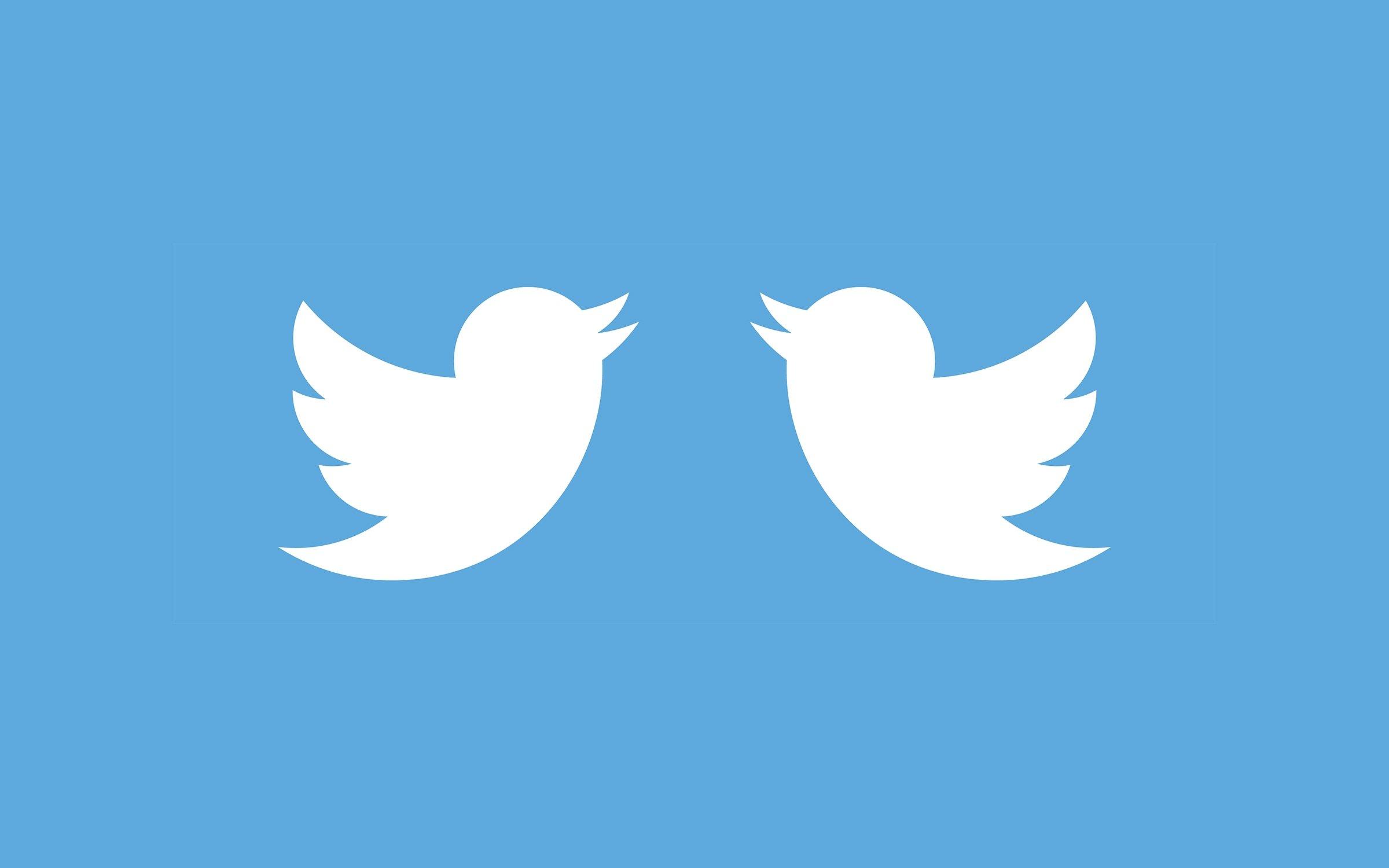 Twitter logo em duplicado