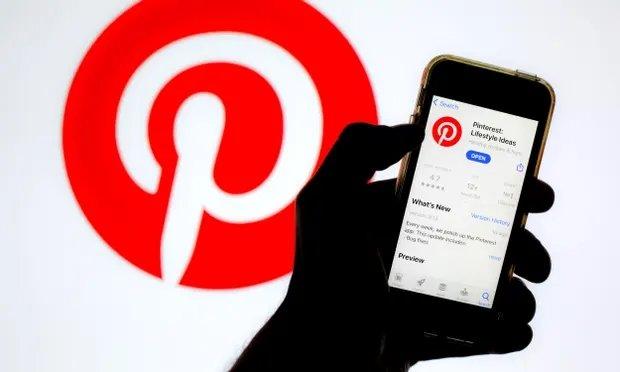 Pinterest app em smartphone