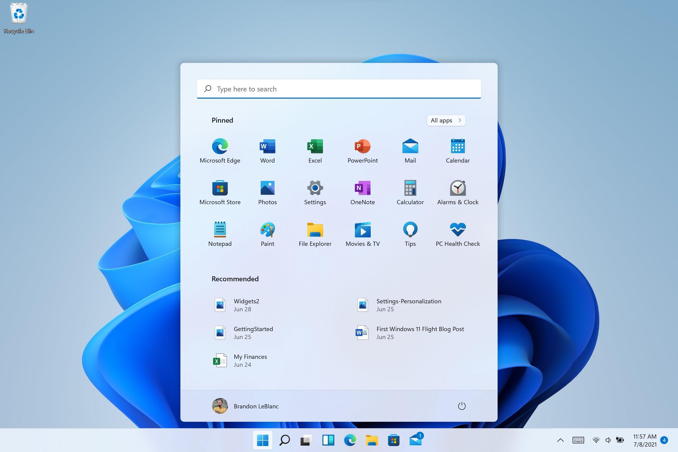 Windows 11 barra de pesquisas