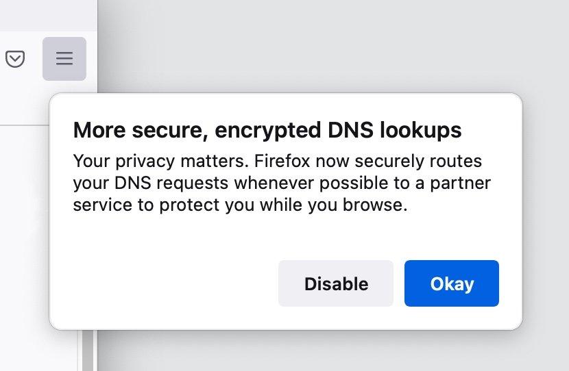 DNS over HTTPS firefox