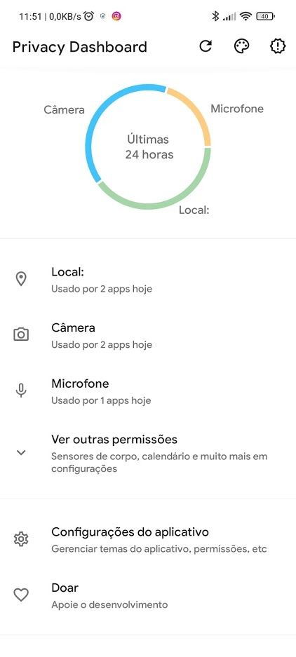 privacidade android 12
