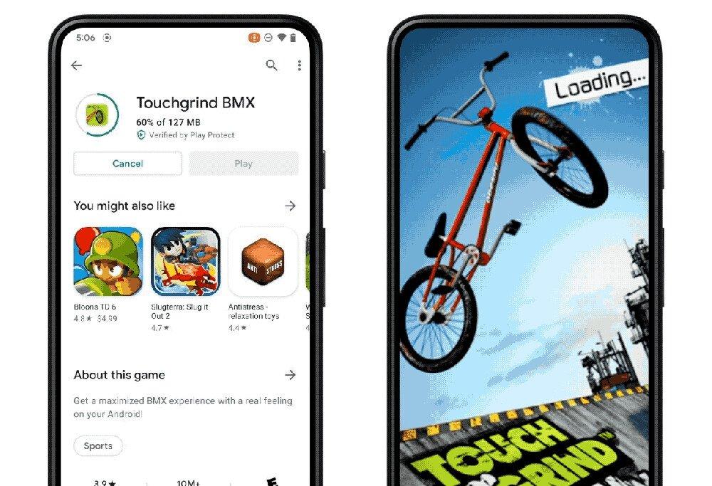 Android 12 jogos em segundo plano