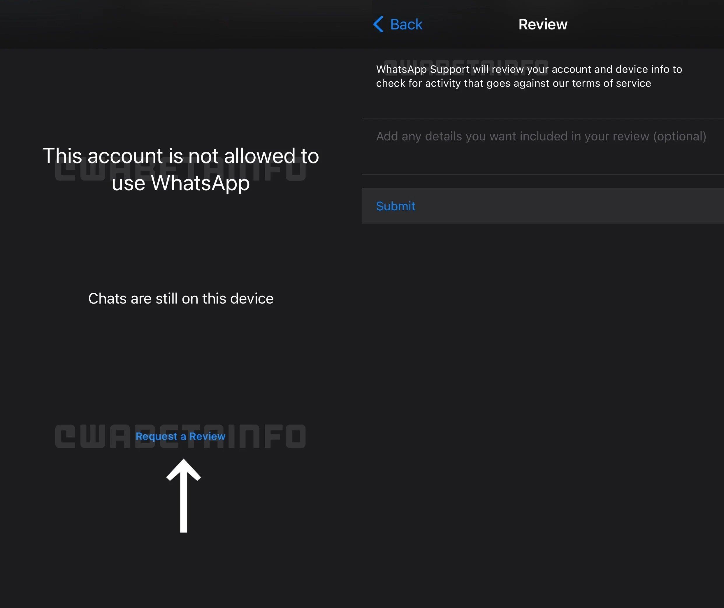 requerer validação do Whatsapp