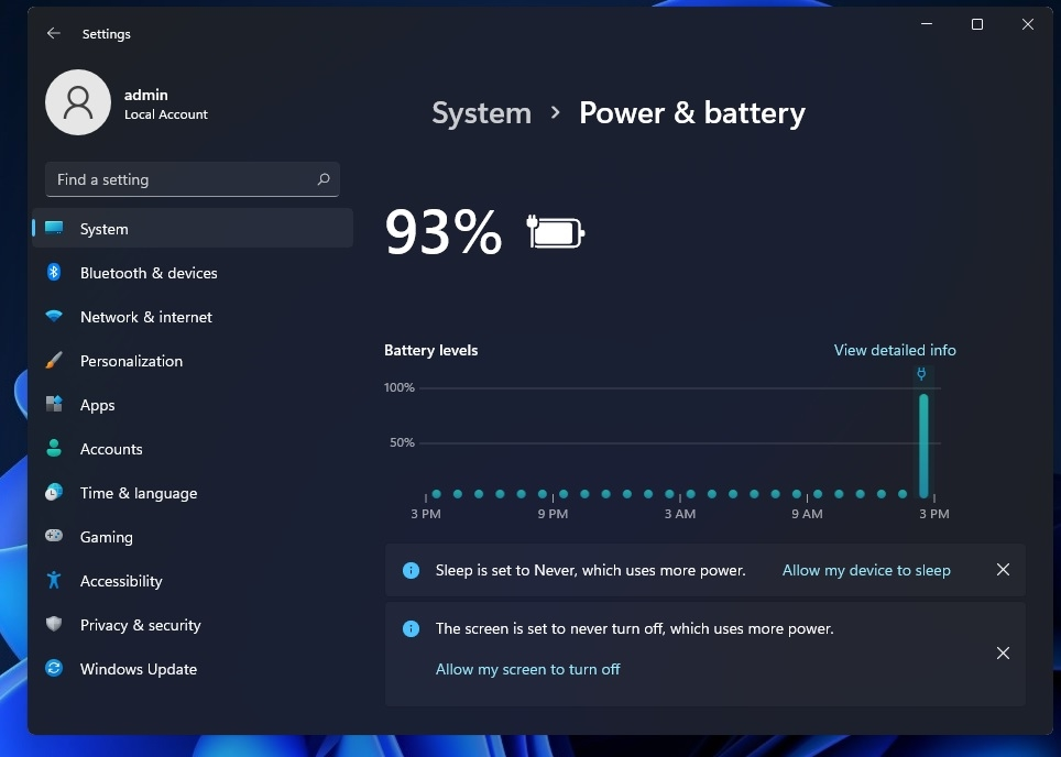 windows 11 bateria alerta