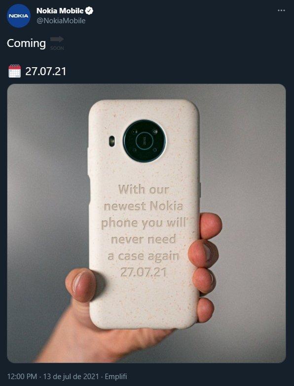 nokia imagem partilhada no twitter sobre novo smartphone