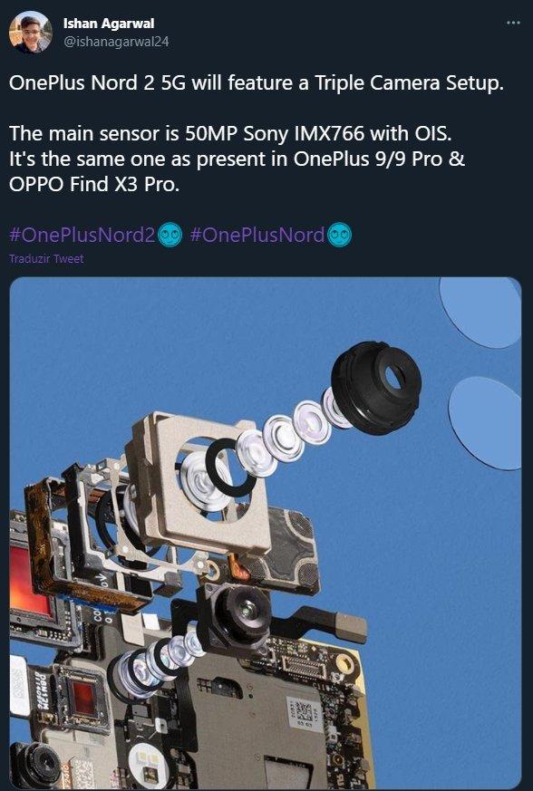 oneplus nord 2 lentes da camara
