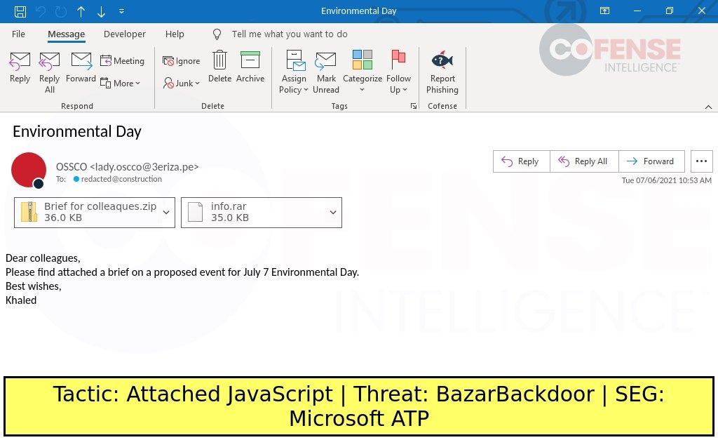 malware em anexo de mensagem de email