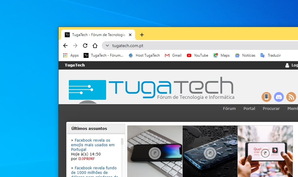 Chrome com icone neutro para sites seguros