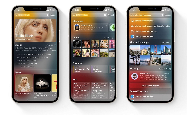 apple iphone com o iOS 15 instalado
