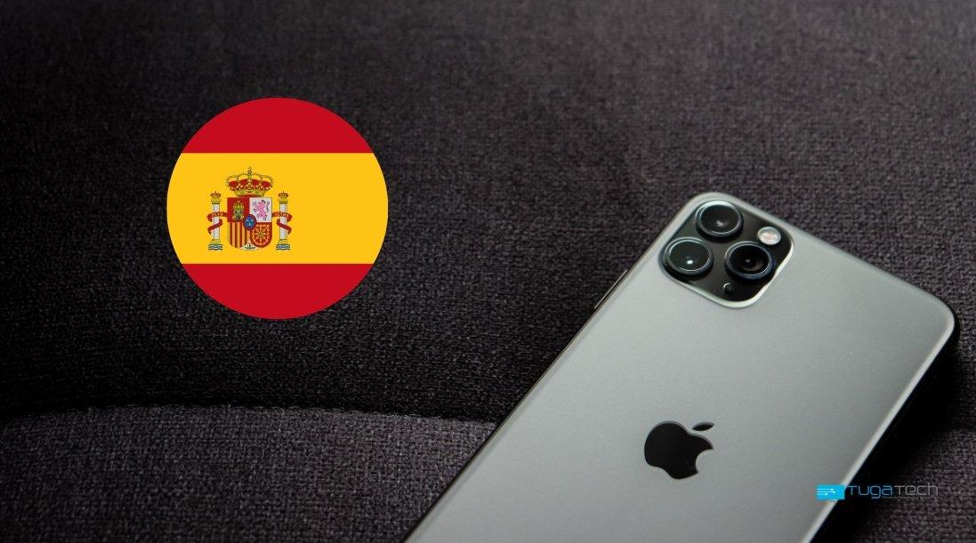 Apple com iPhone e espanha