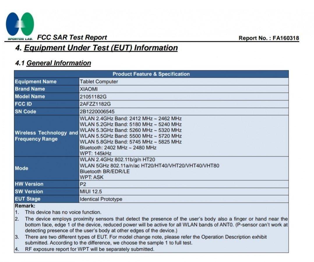 sistema do MI pad 5