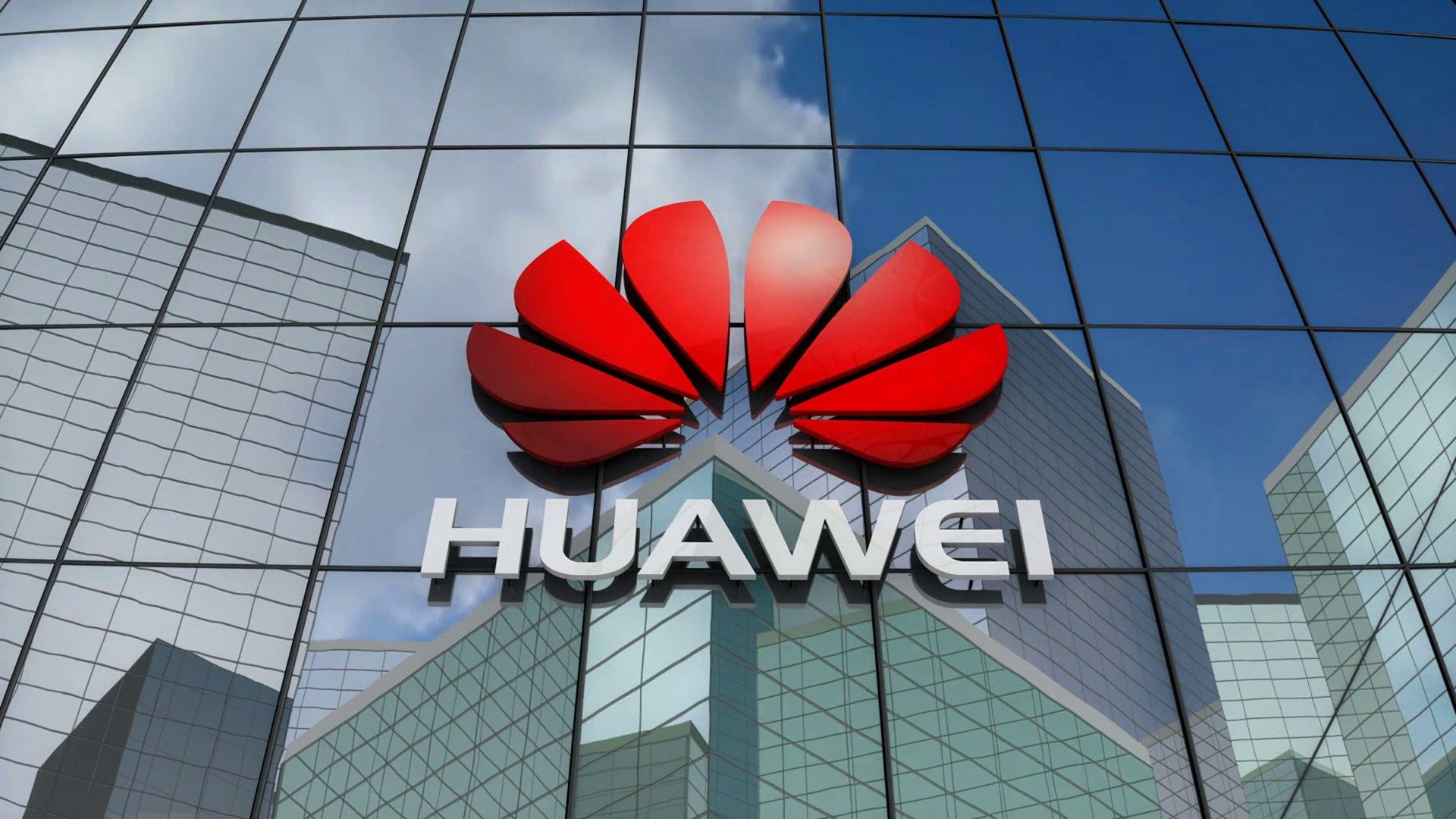 Huawei logo em sede da empresa