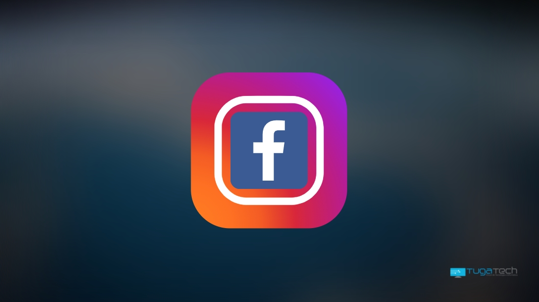 Instagram com o logo do Facebook