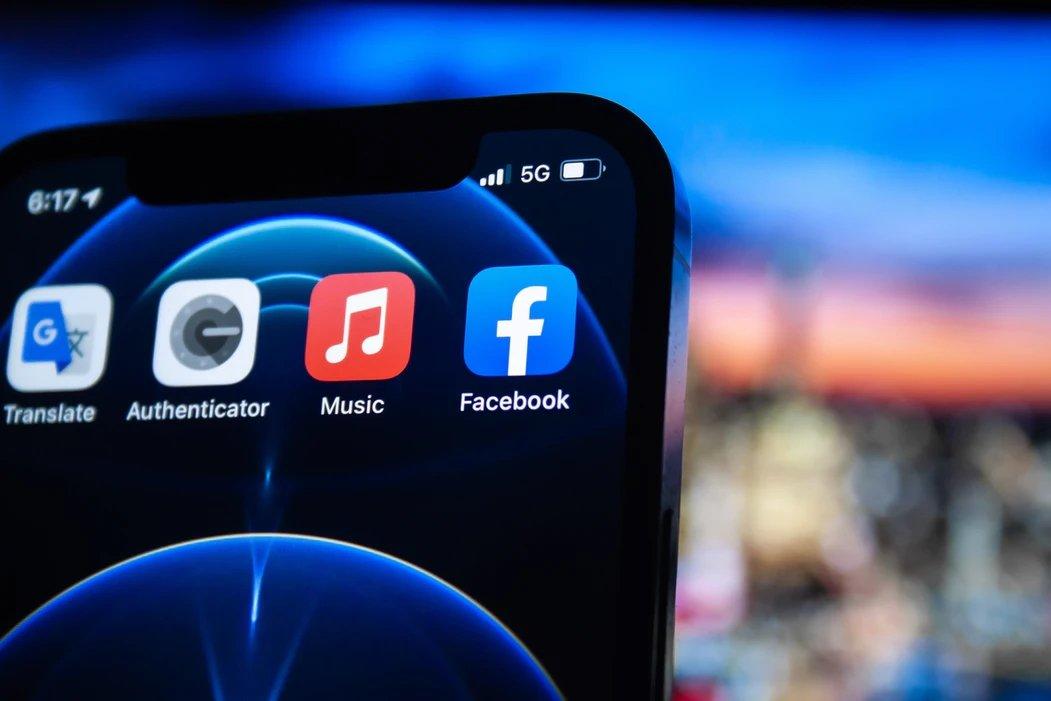 Facebook app no iPhone