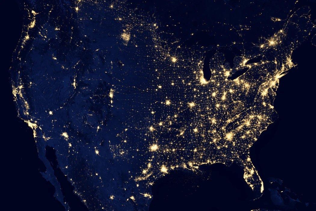 EUA visto do espaço