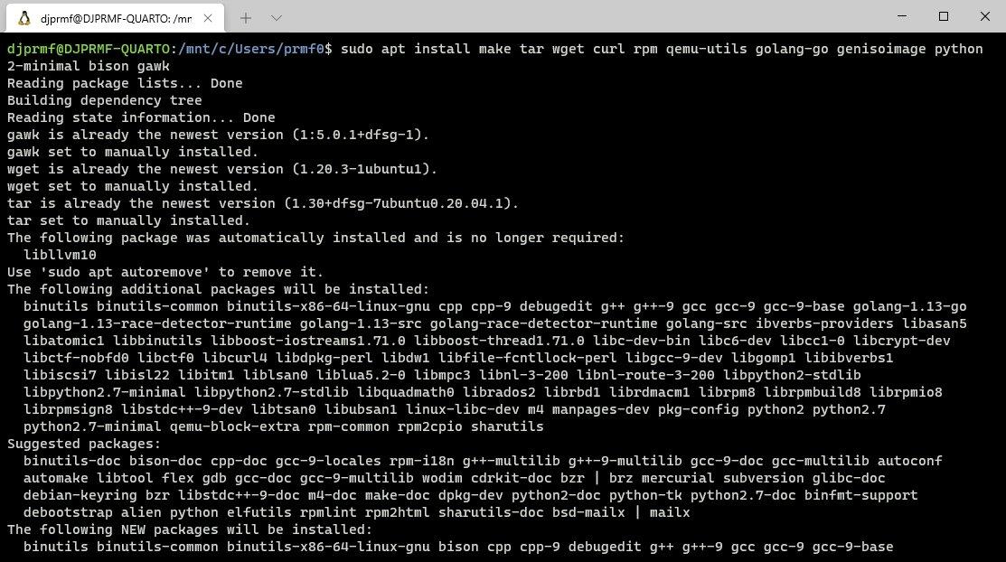 linha de comandos do linux