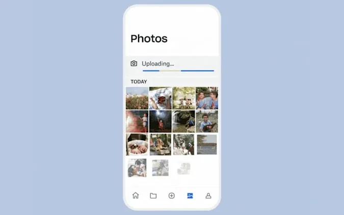 Dropbox automático com upload de fotos