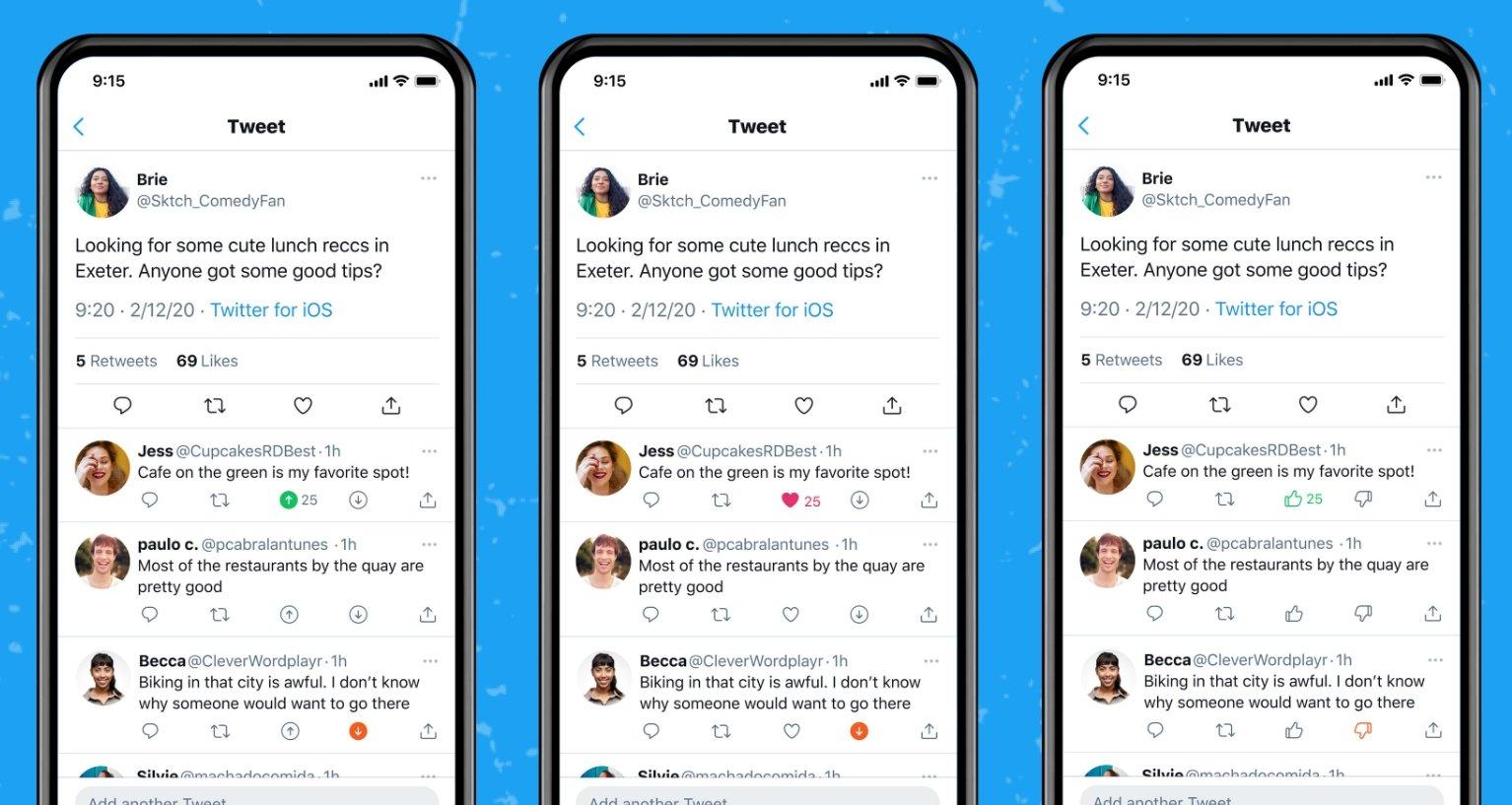 Twitter com votos