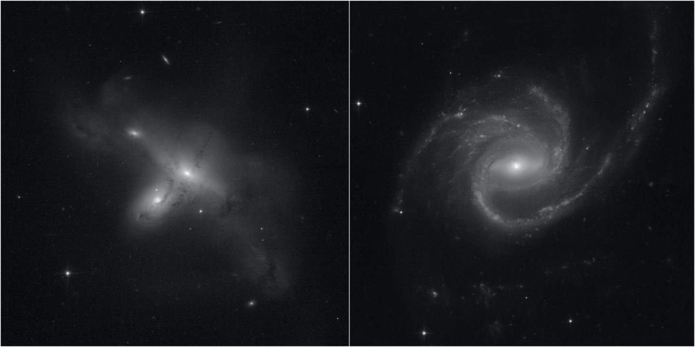 Duas galaxias capturadas pelo hubble